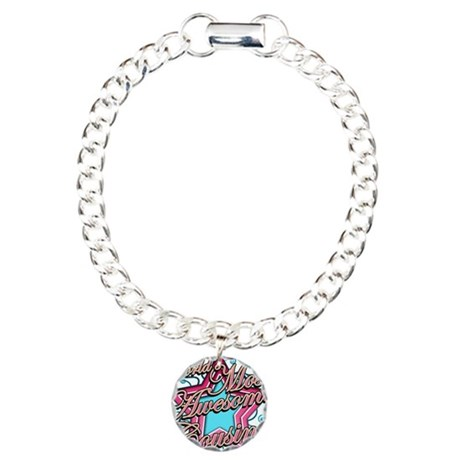 Worlds Most Awesome Cousin Charm Bracelet, One Cha
