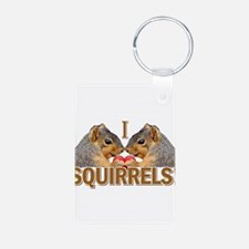 I Heart / Love Squirrels! Keychains