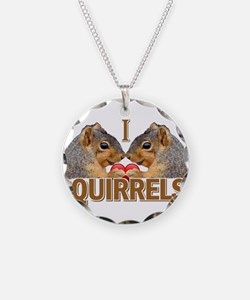 I Heart / Love Squirrels! Necklace