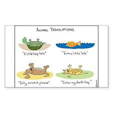 Animal Translations Decal