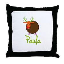 Paula the Reindeer Throw Pillow