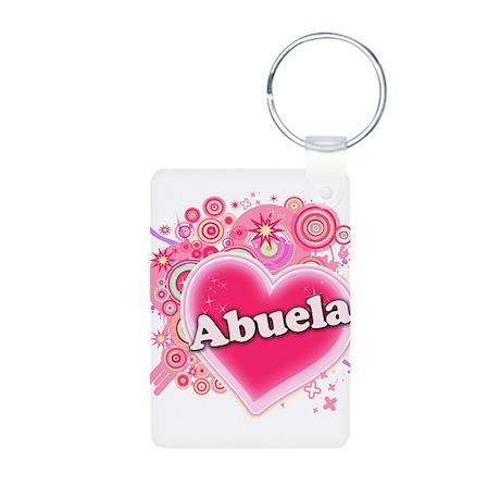 Abuela Heart Art Aluminum Photo Keychain