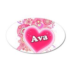 Ava Heart Art 22x14 Oval Wall Peel