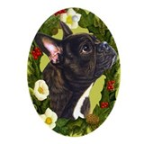 French bulldog Oval Ornaments