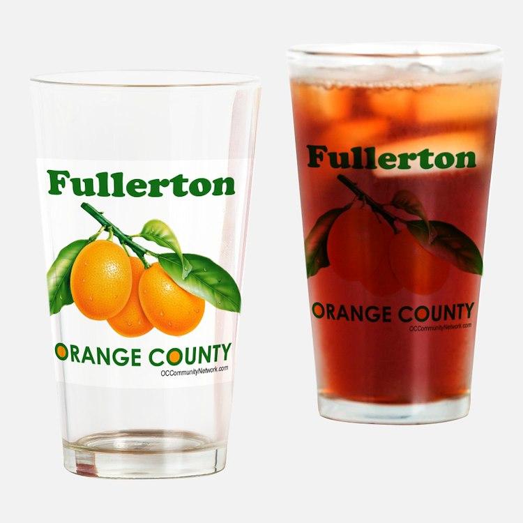 Fullerton, Orange County Drinking Glass