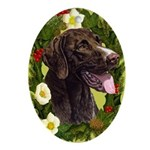German Pointer Ornament (Oval)