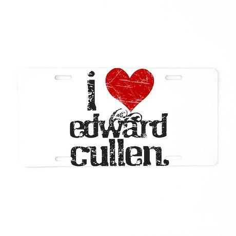 I Love Edward Cullen Aluminum License Plate