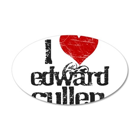 I Love Edward Cullen 38.5 x 24.5 Oval Wall Peel