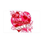 I Love Edward Cullen 38.5 x 24.5 Wall Peel