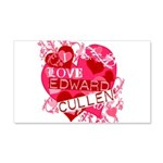 I Love Edward Cullen 22x14 Wall Peel