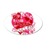 I Love Edward Cullen 38.5 x 24.5 Oval Wall Peel