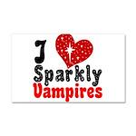 I Love Sparkly Vampires Car Magnet 20 x 12