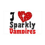 I Love Sparkly Vampires 38.5 x 24.5 Wall Peel