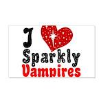 I Love Sparkly Vampires 22x14 Wall Peel