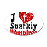 I Love Sparkly Vampires 22x14 Oval Wall Peel