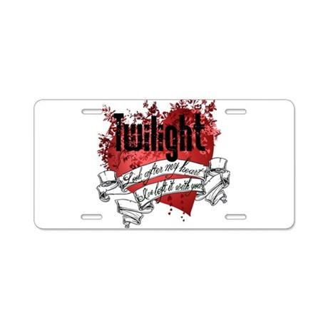 Look After My Heart Aluminum License Plate