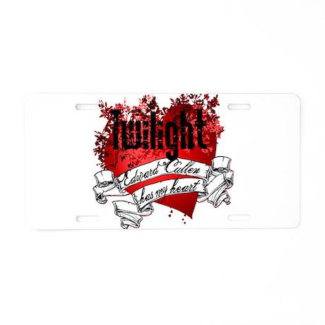 Edward Cullen Tattoo Aluminum License Plate