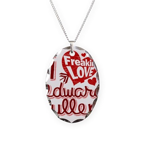 Freakin LOVE Edward Cullen Necklace Oval Charm