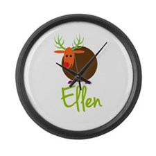 Ellen the Reindeer Large Wall Clock