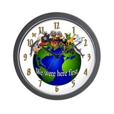 """""""We Were Here First"""" Wall Clock"""