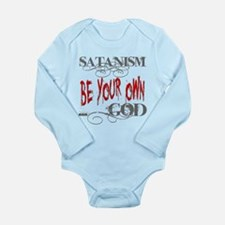 Satanism Be Your Own G Long Sleeve Infant Bodysuit