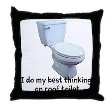 Roof Toilet Throw Pillow