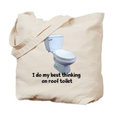 Roof Toilet Tote Bag