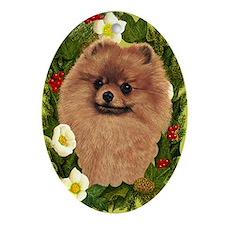 Pomeranian Ornament (Oval)