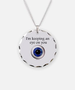 Keeping an Eye on You Necklace Circle Charm