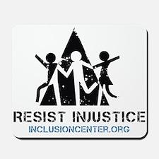 Resist Injustice dark on ligh Mousepad