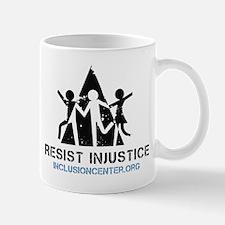 Resist Injustice dark on ligh Mug