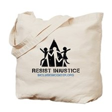 Resist Injustice dark on ligh Tote Bag