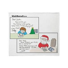 Vampire Santa Throw Blanket