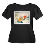 UH-OH Women's Plus Size Scoop Neck Dark T-Shirt