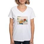 UH-OH Women's V-Neck T-Shirt