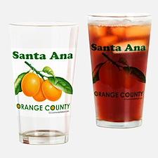 Santa Ana, Orange County Drinking Glass