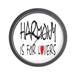 Harmony Is For Lovers Wall Clock