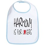 Harmony Is For Lovers Bib