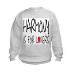 Harmony Is For Lovers Kids Sweatshirt