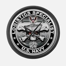USN Logistics Specialist SK Large Wall Clock
