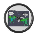 Astronaut Tetherball Large Wall Clock