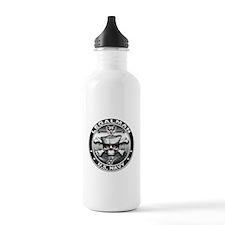 USN Legalman Skull LN Water Bottle