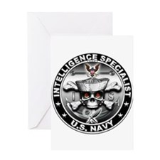 USN Intelligence Specialist S Greeting Card
