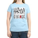 Harmony Is For Lovers Women's Pink T-Shirt
