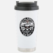 USN Hospital Corpsman Skull H Travel Mug