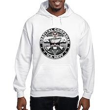 USN Hospital Corpsman Skull H Hoodie