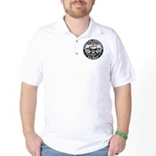 USN Hospital Corpsman Skull H T-Shirt