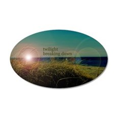 Twilight Breaking Dawn Grass 22x14 Oval Wall Peel
