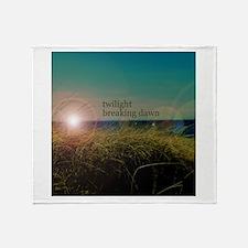 Twilight Breaking Dawn Grass Throw Blanket