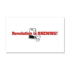 Tea Party Revolution Car Magnet 20 x 12